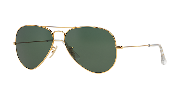 RB3025K 58 AVIATOR SOLID GOLD $3,200.00