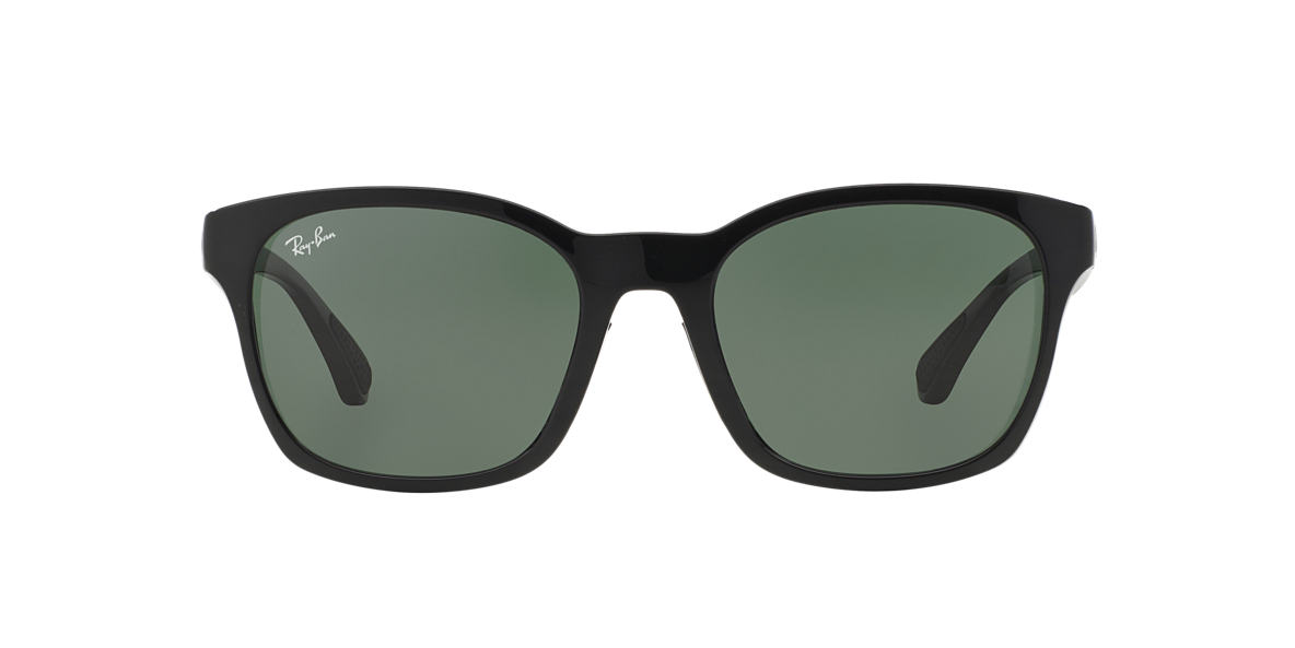 RAY-BAN Black RB4197F Green lenses 56mm