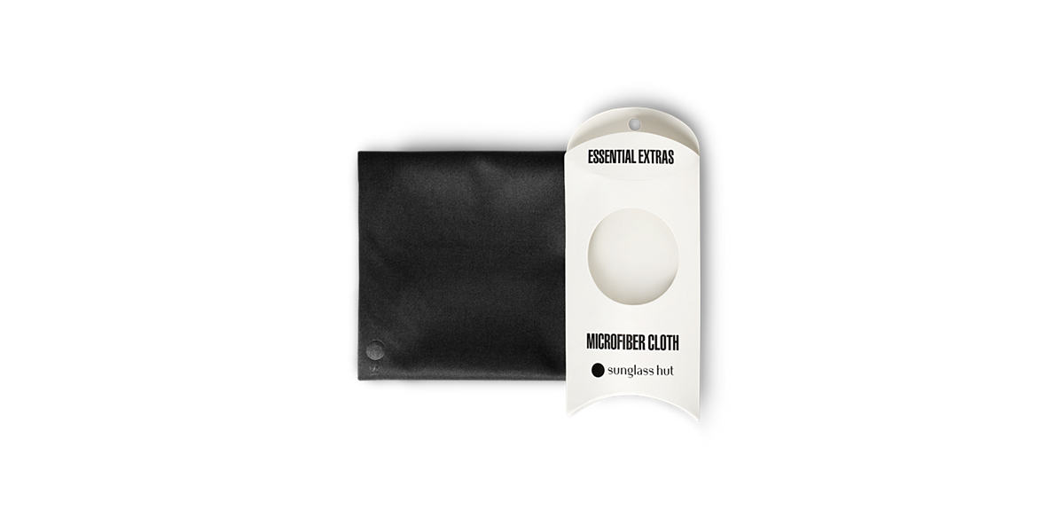SMALL CLEANING CLOTH (19 X 18 CM) - BLACK  lenses mm
