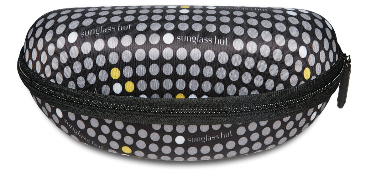 SUNGLASS HUT LARGE GLASSES CASE - YELLOW  lenses mm