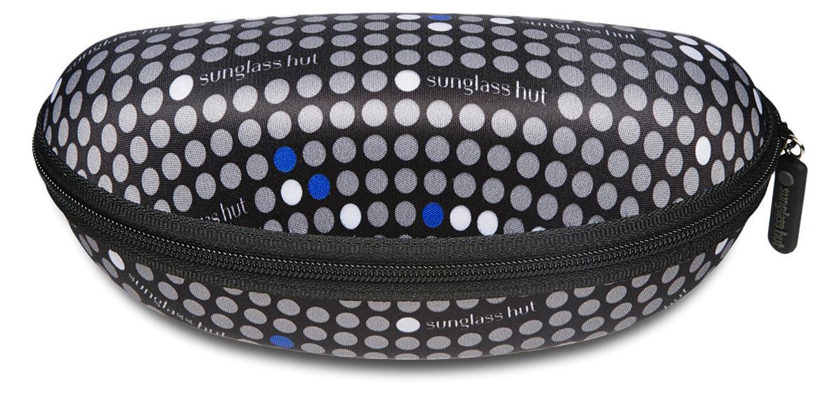 SUNGLASS HUT LARGE CASE - BLUE  lenses mm