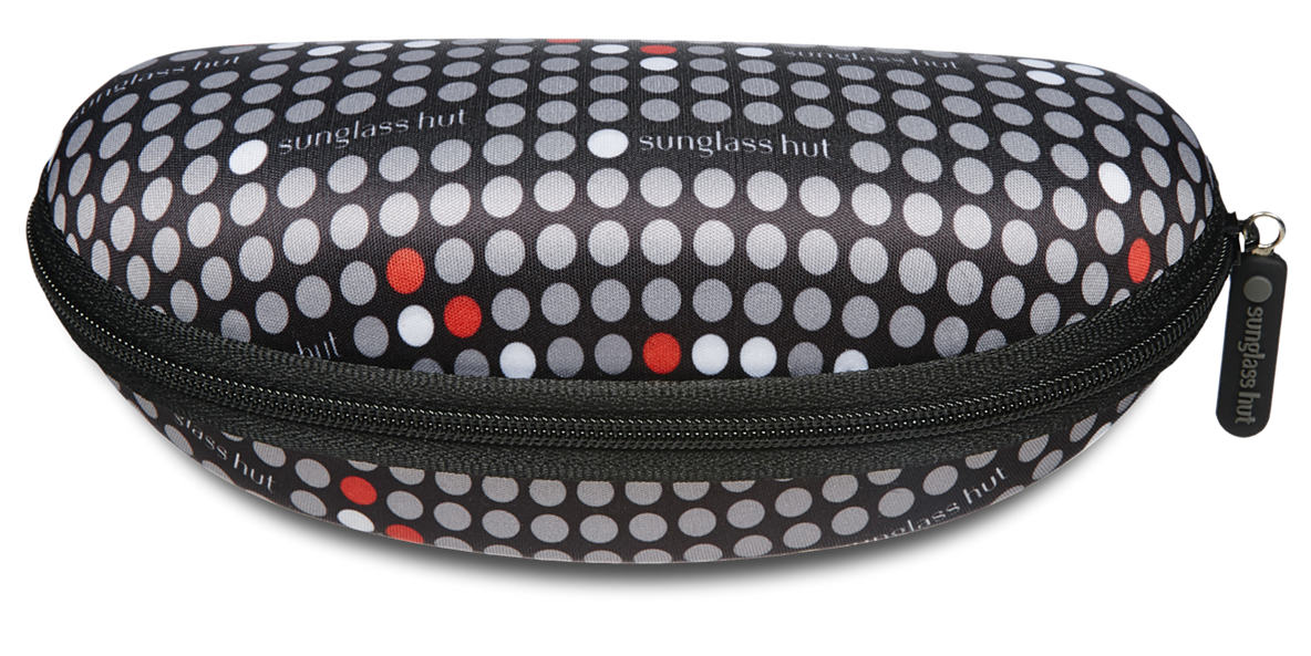 SUNGLASS HUT SMALL CASE - RED  lenses mm