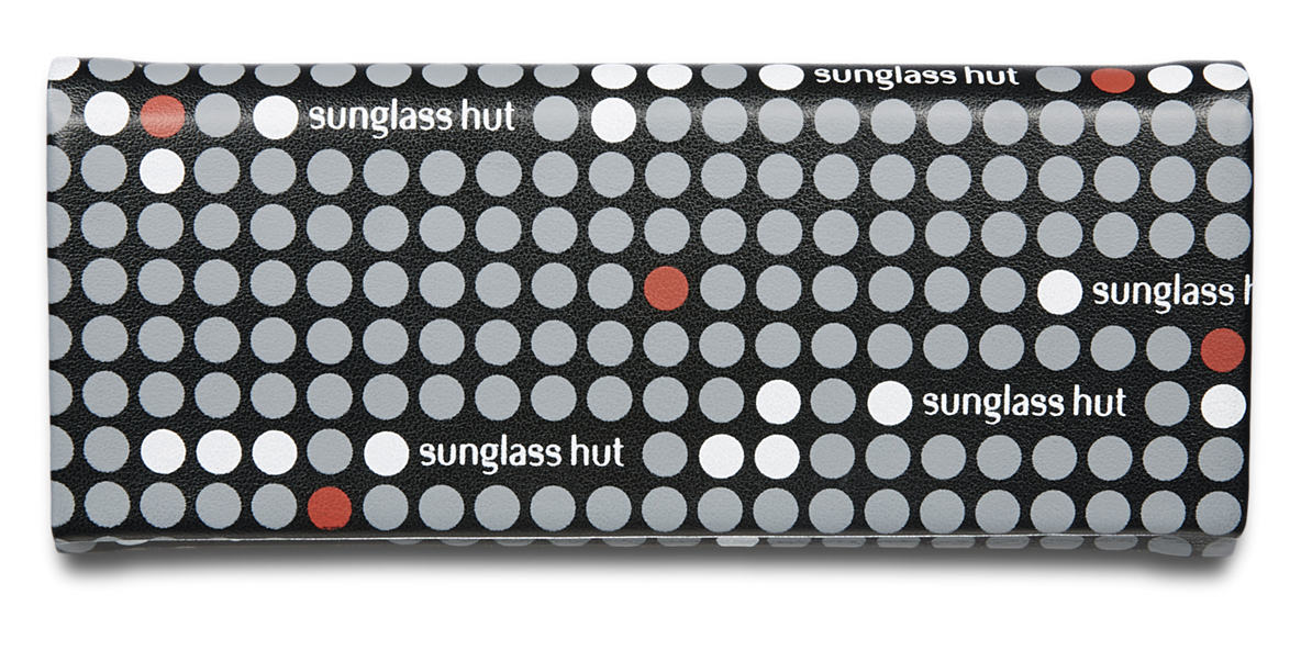 SUNGLASS HUT FOLDABLE CARRY CASE - RED  lenses mm