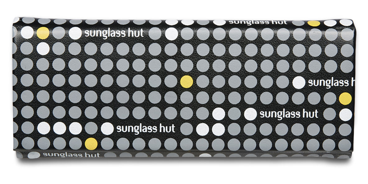 SUNGLASS HUT FOLDABLE CARRY CASE - YELLOW  lenses mm