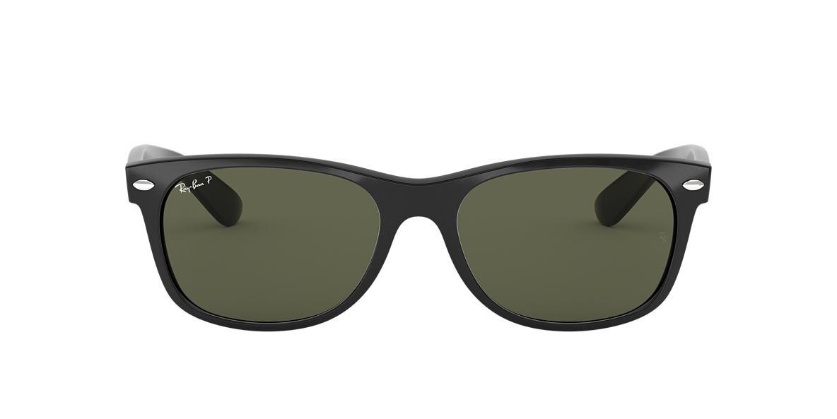 RAY-BAN Black RB2132F Green polarised lenses 55mm