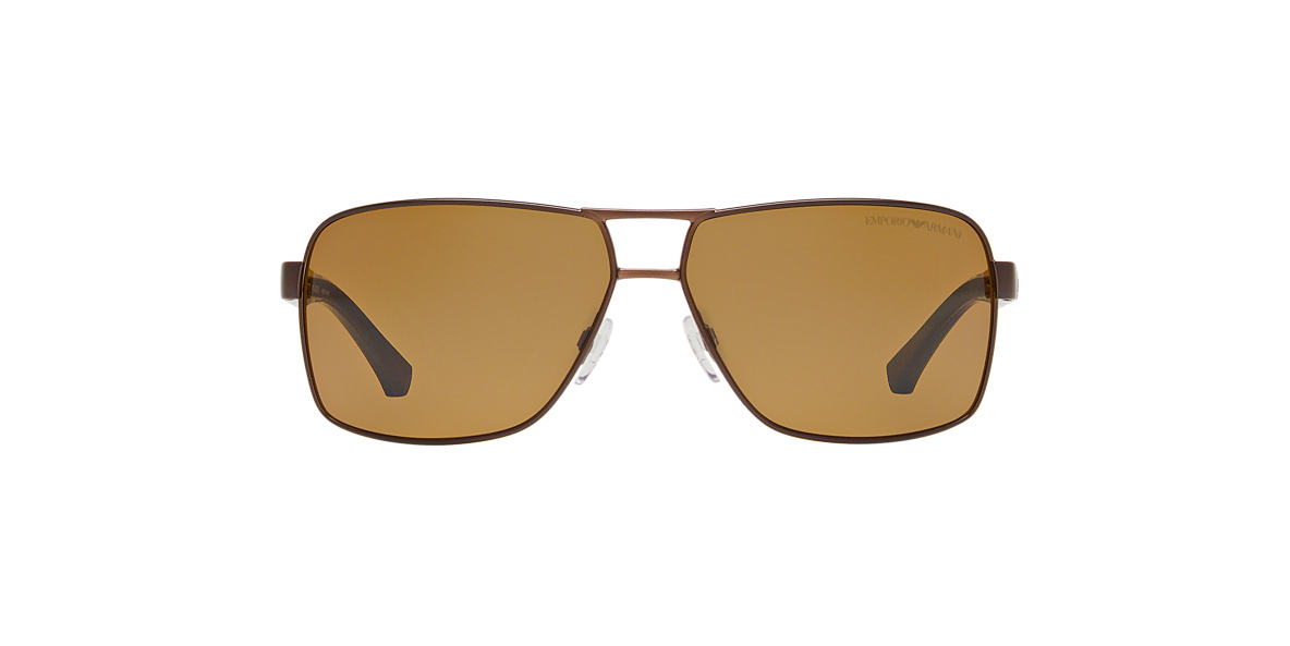 EMPORIO ARMANI Brown EA2001 Brown polarized lenses 64mm