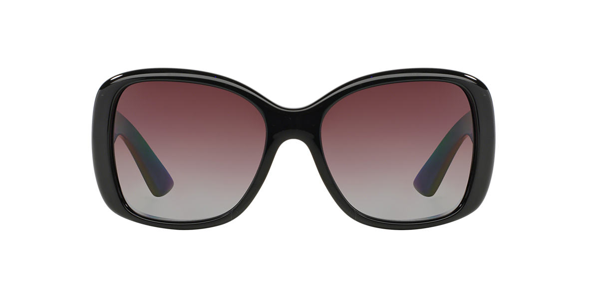 PRADA Black PR 32PS Purple polarized lenses 57mm