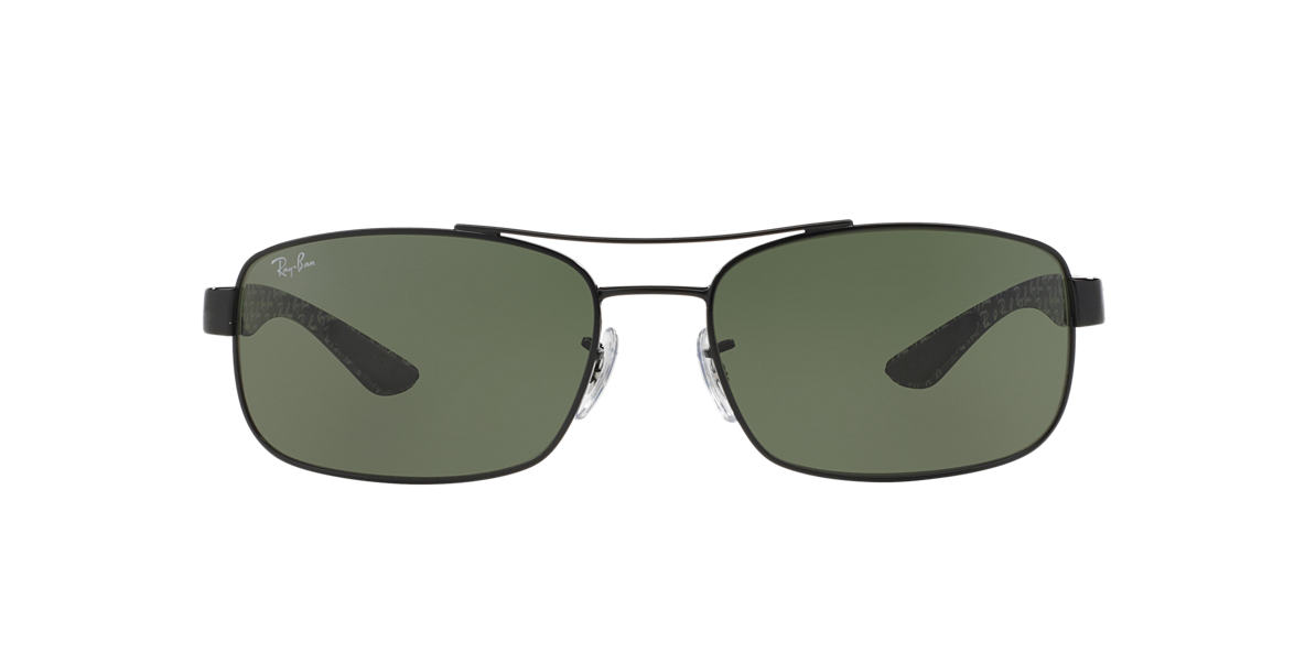 RAY-BAN Black RB8316 62 CARBON FIBRE Green lenses 62mm