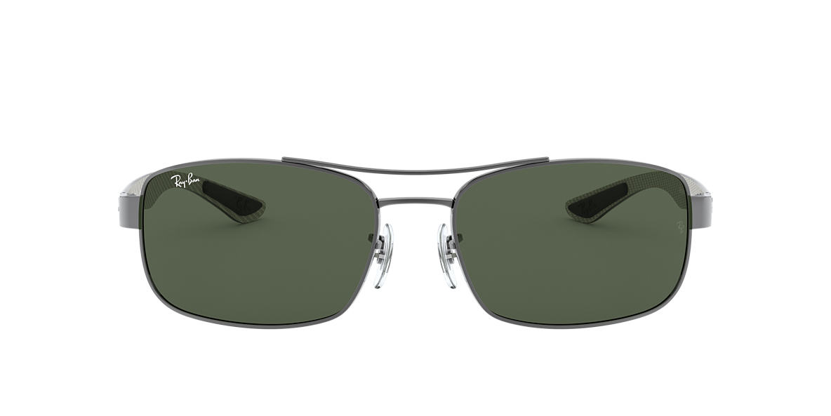 RAY-BAN Gunmetal RB8316 62 CARBON FIBRE Green lenses 62mm