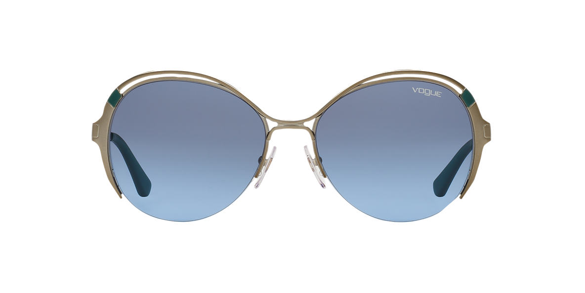 VOGUE LINE Gunmetal Shiny VO3907S 57 Blue lenses 57mm