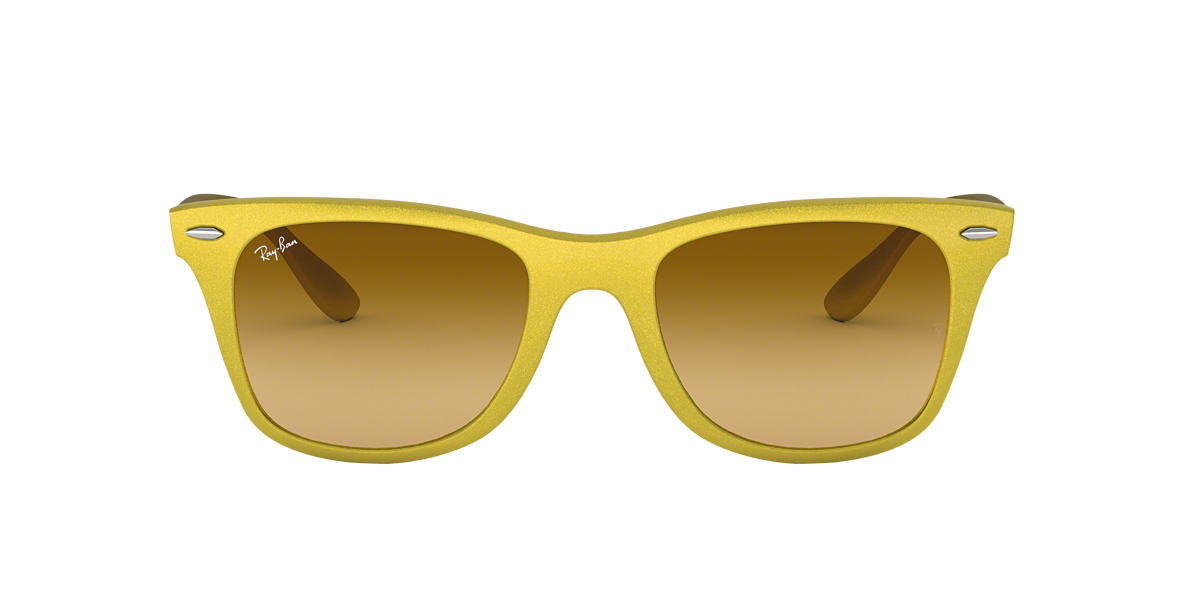 RAY-BAN Yellow RB4195 52 WAYFARER LITEFORCE Yellow lenses 52mm