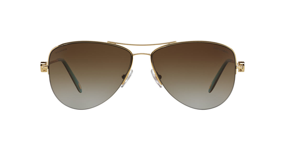 TIFFANY Gold TF3021 Brown polarised lenses 60mm