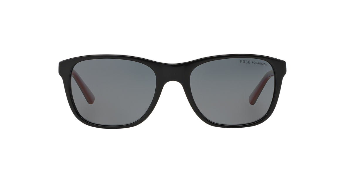 POLO RALPH LAUREN Black PH4085 55 Grey polarised lenses 55mm