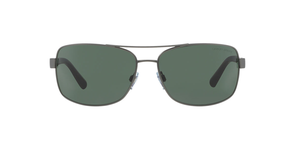 GIORGIO ARMANI Silver AR6011 Green lenses 65mm