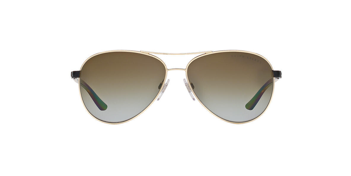 RALPH LAUREN Gold RL7046 58 Brown polarised lenses 58mm