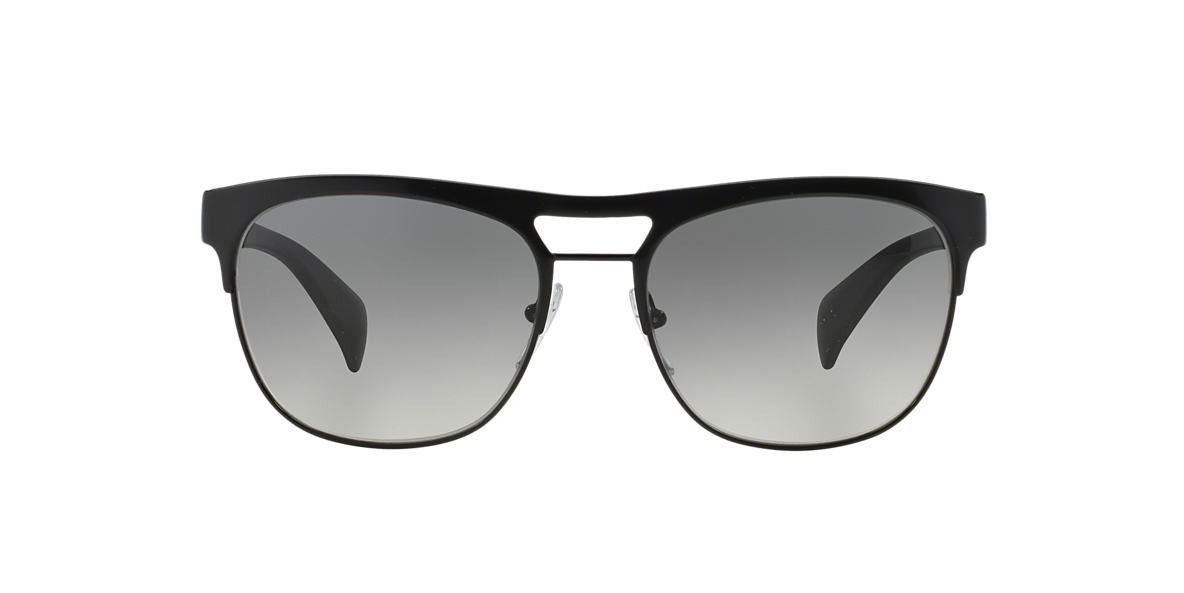 PRADA Black Matte PR 52QS 57 Grey lenses 57mm