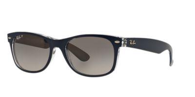 ray ban polarized wayfarer lenses  Ray-Ban RB2132 55 NEW WAYFARER 55 Grey \u0026 Blue Polarized Sunglasses ...