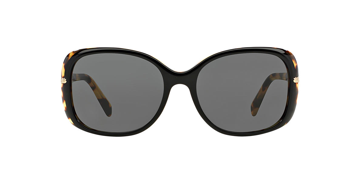 PRADA Black PR 08OS Grey lenses 57mm