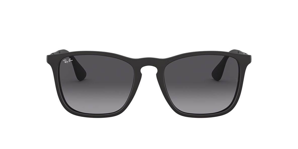 RAY-BAN Black RB4187F Grey lenses 54mm