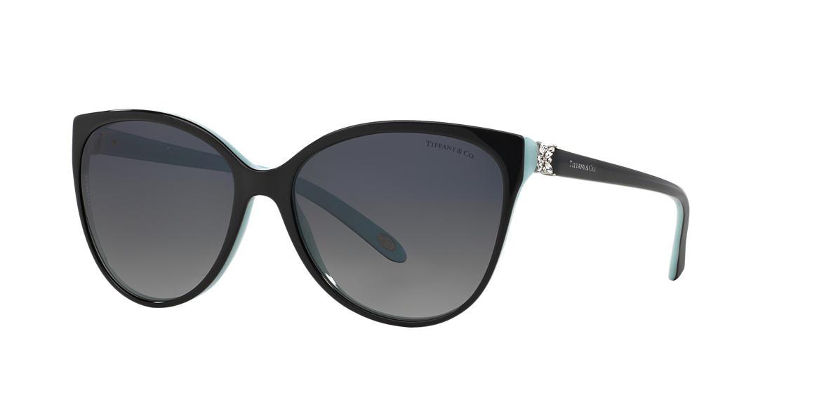 Tiffany & Co. TF4089B 58 Grey & Black Polarized Sunglasses ...