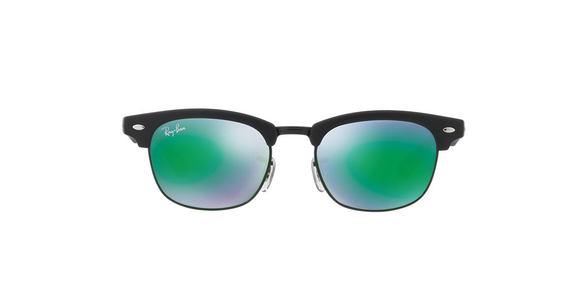 RAY-BAN CHILDRENS Black Matte RJ9050S Green lenses 45mm