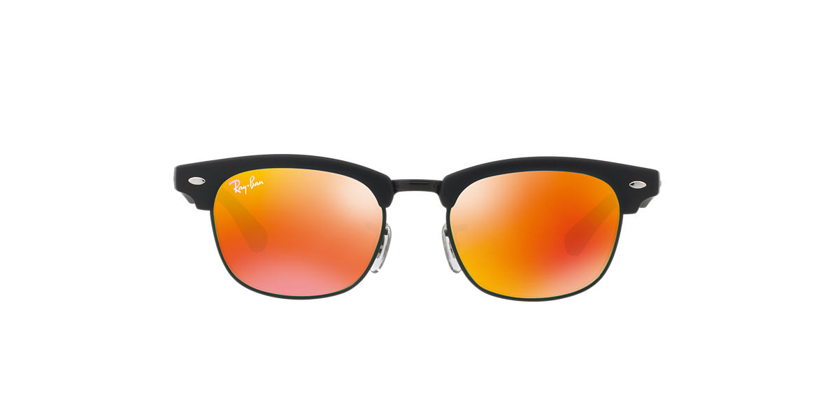 RAY-BAN CHILDRENS Black Matte RJ9050S Orange lenses 45mm