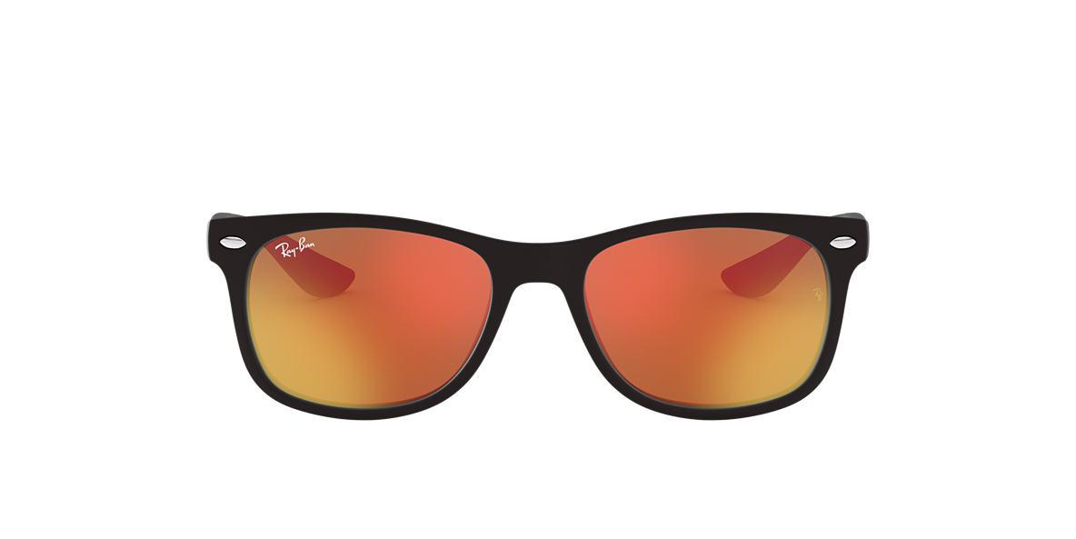 RAY-BAN CHILDRENS Black Matte RJ9052S Orange lenses 47mm