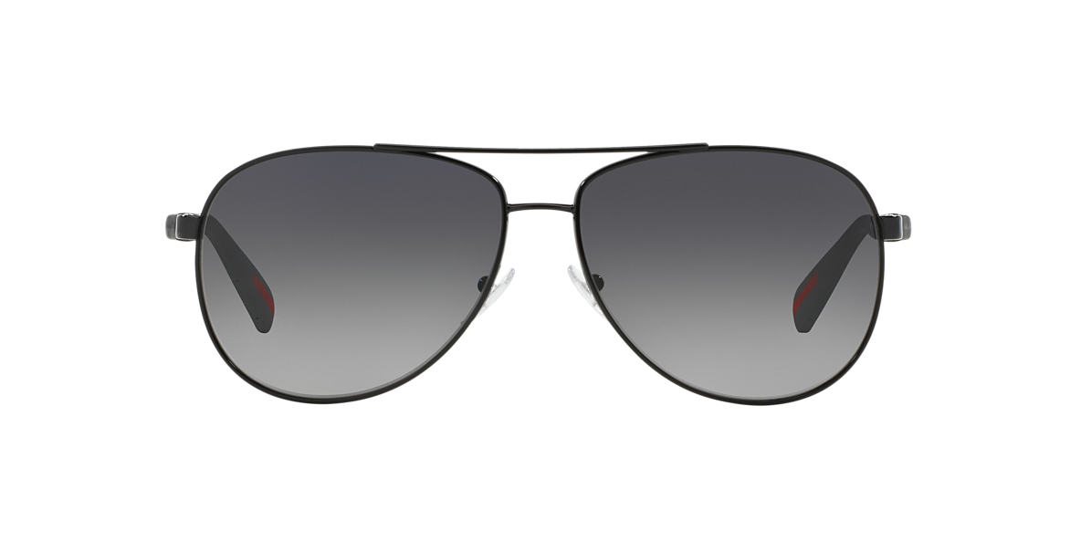 PRADA LINEA ROSSA Black PS 51OS Grey polarised lenses 62mm