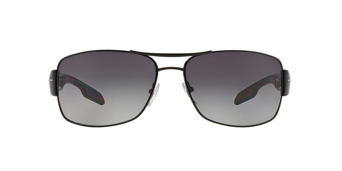 PRADA LINEA ROSSA Black PS 53NS Grey polarised lenses 65mm