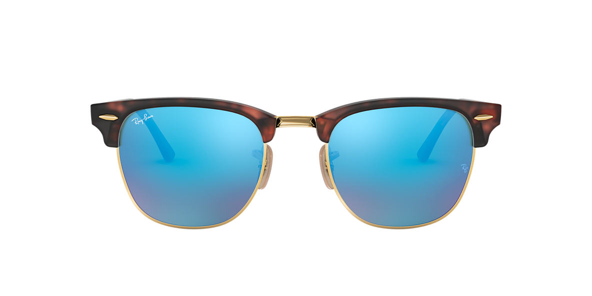 RAY-BAN Tortoise RB3016 49 CLUBMASTER Blue lenses 49mm