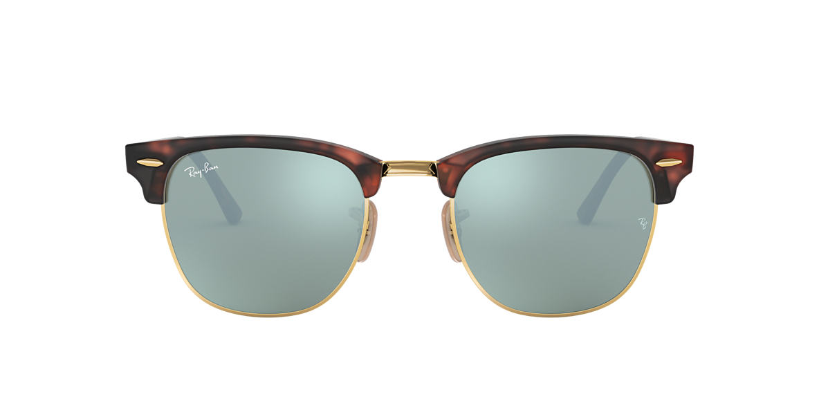 RAY-BAN Tortoise RB3016 51 CLUBMASTER Green lenses 51mm