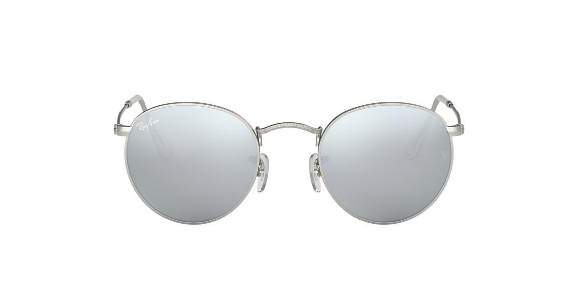 ray ban rb3447 50 round metal 50 silver silver matte sunglasses sunglass hut usa