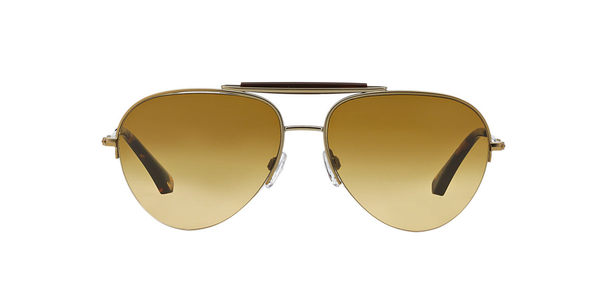 EMPORIO ARMANI Gold EA2020 59 Yellow lenses 59mm