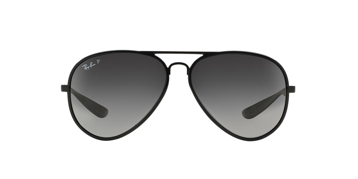 RAY-BAN Black RB4180 59 AVIATOR LITEFORCE Grey polarized lenses 59mm