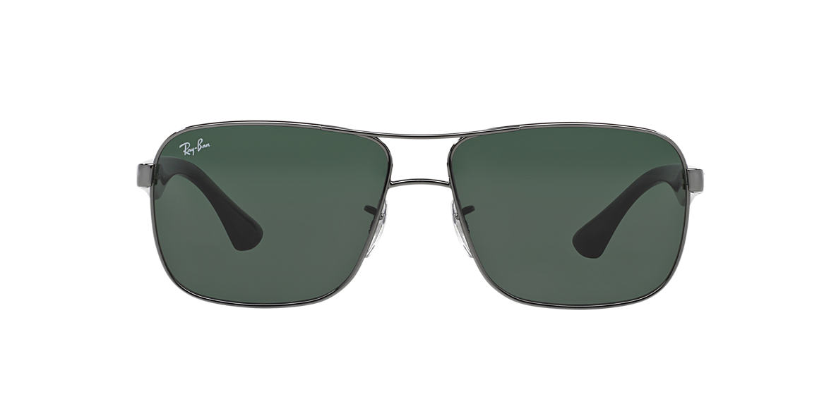 RAY-BAN Gunmetal RB3516 62 Green lenses 62mm