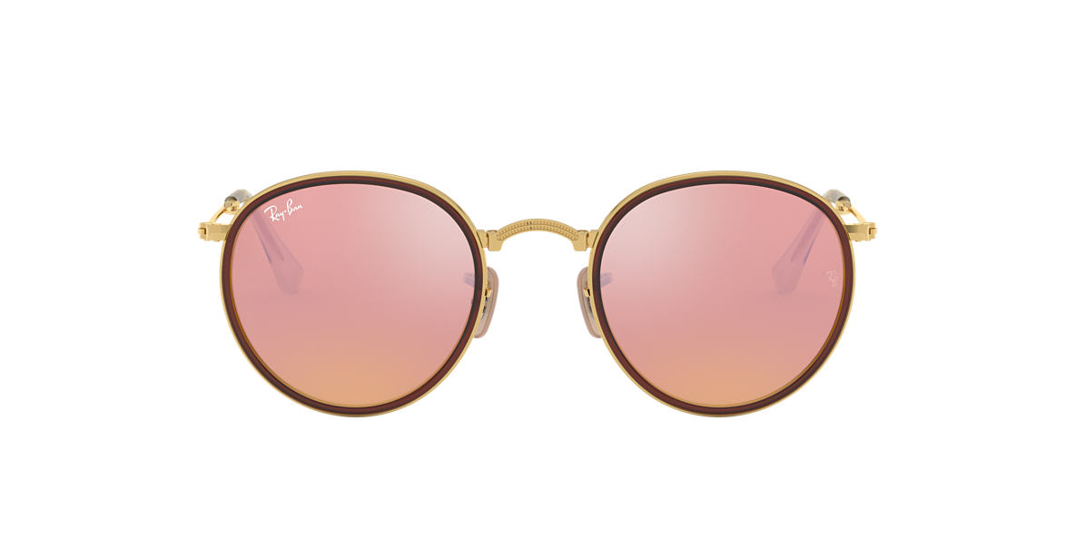 RAY-BAN Gold RB3517 Brown lenses 51mm