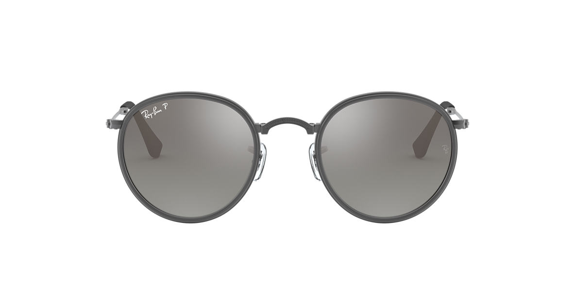 RAY-BAN Silver RB3517 Grey polarised lenses 51mm