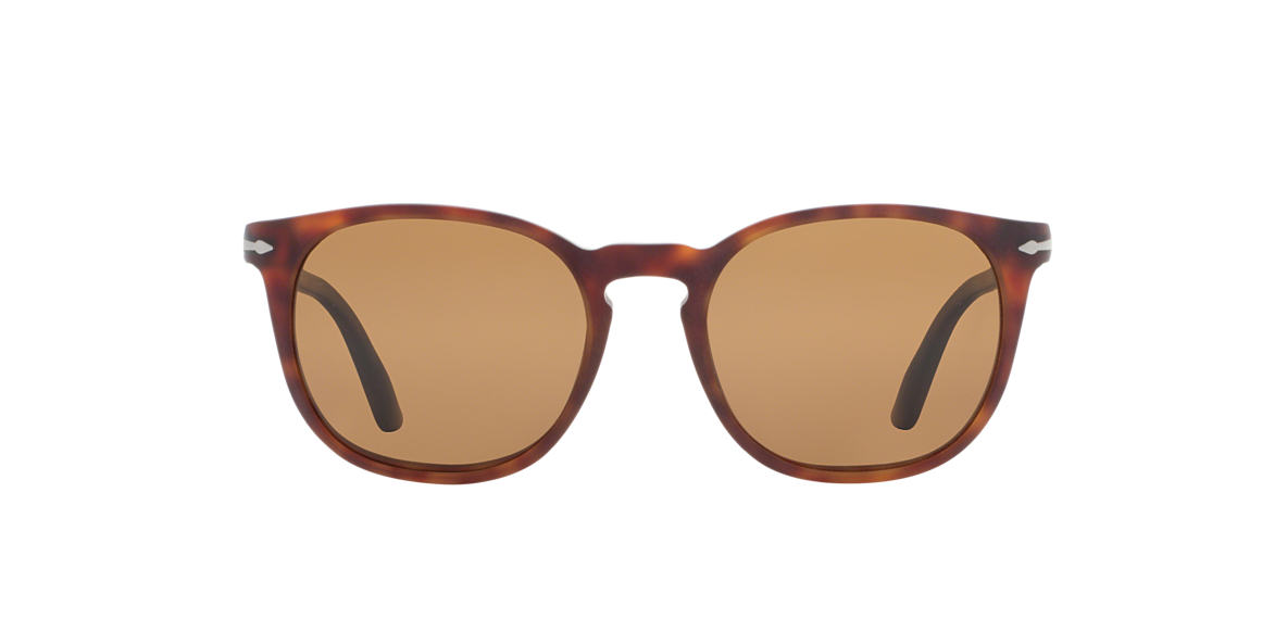 PERSOL Tortoise Matte PO3007S 53 Brown polarized lenses 53mm