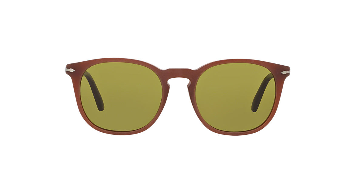 PERSOL Brown PO3007S 53 Green polarised lenses 53mm