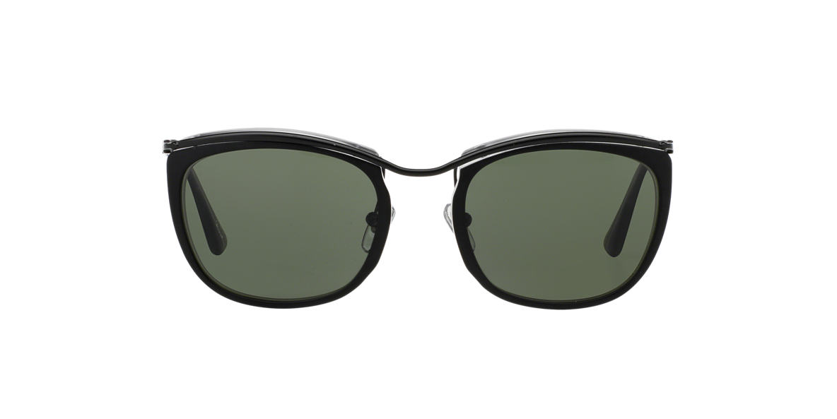 PERSOL Black Matte PO3081S 52 Green lenses 52mm