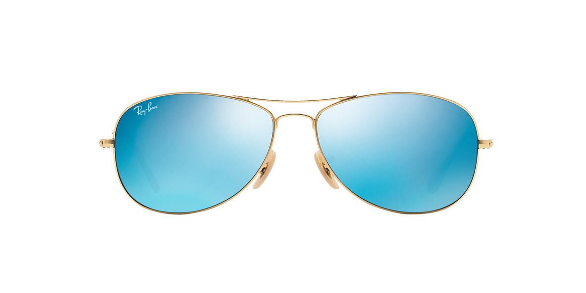 RAY-BAN Gold Matte RB3362 59 COCKPIT Blue lenses 59mm