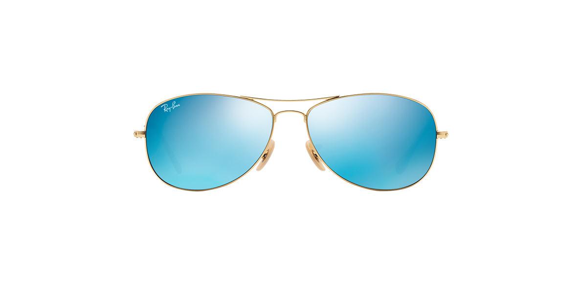 RAY-BAN Gold Matte RB3362 56 COCKPIT Blue lenses 56mm