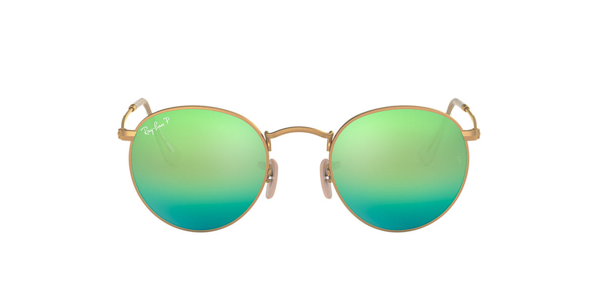 RAY-BAN Gold RB3447 Green polarised lenses 50mm