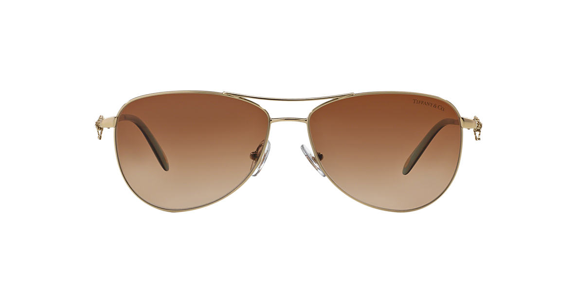 TIFFANY & CO Gold TF3044 Brown lenses 58mm