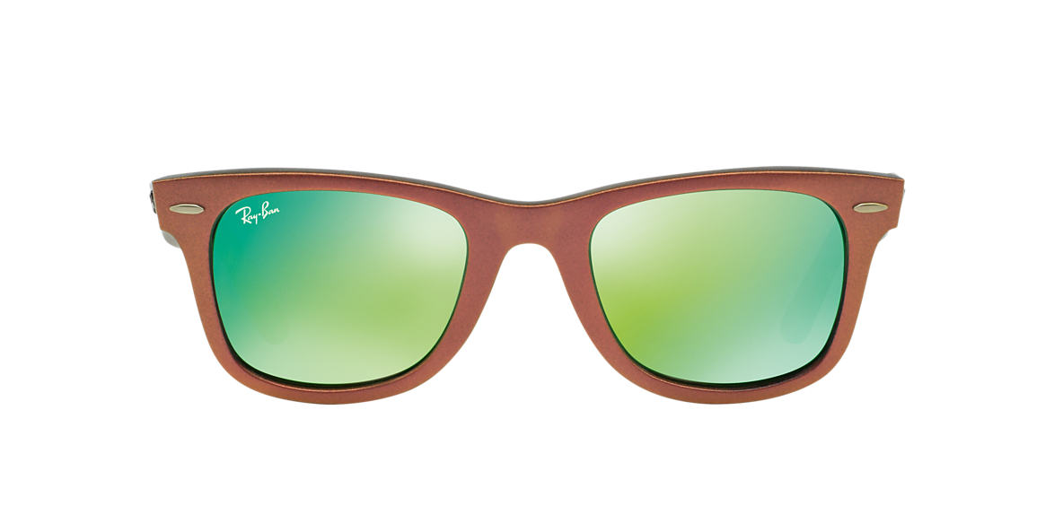 RAY-BAN Pink RB2140 50 ORIGINAL WAYFARER Green lenses 50mm