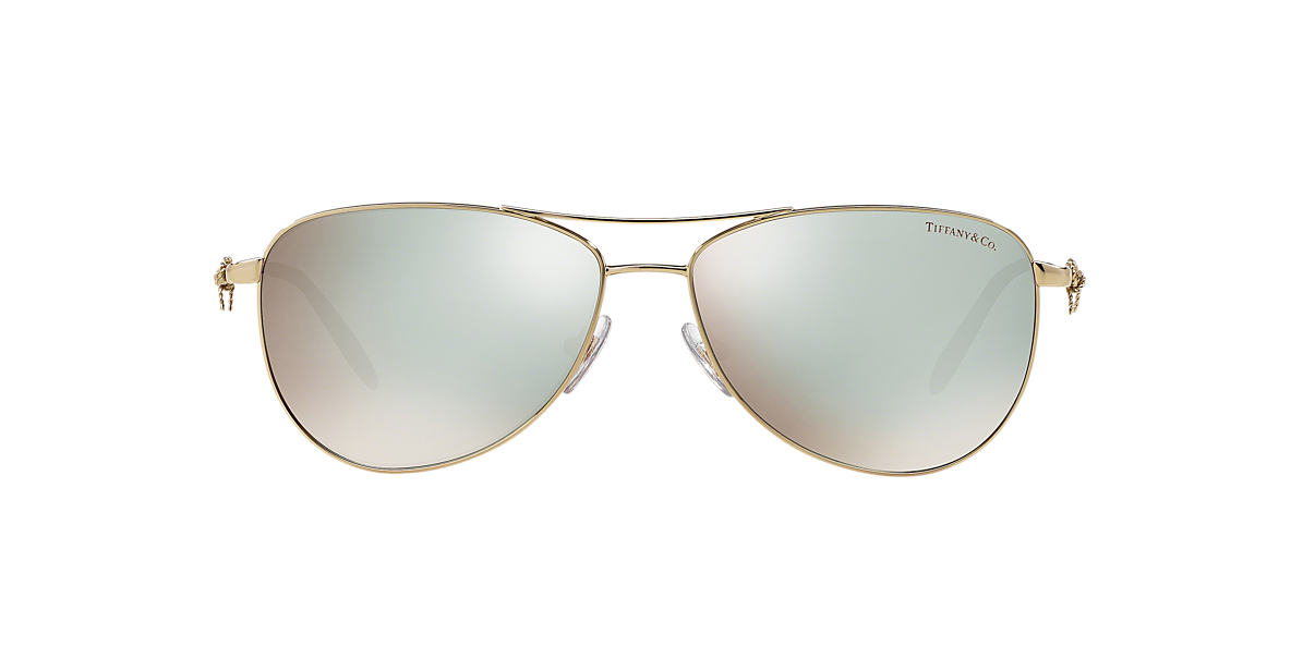 TIFFANY Gold TF3044 58 Blue lenses 58mm