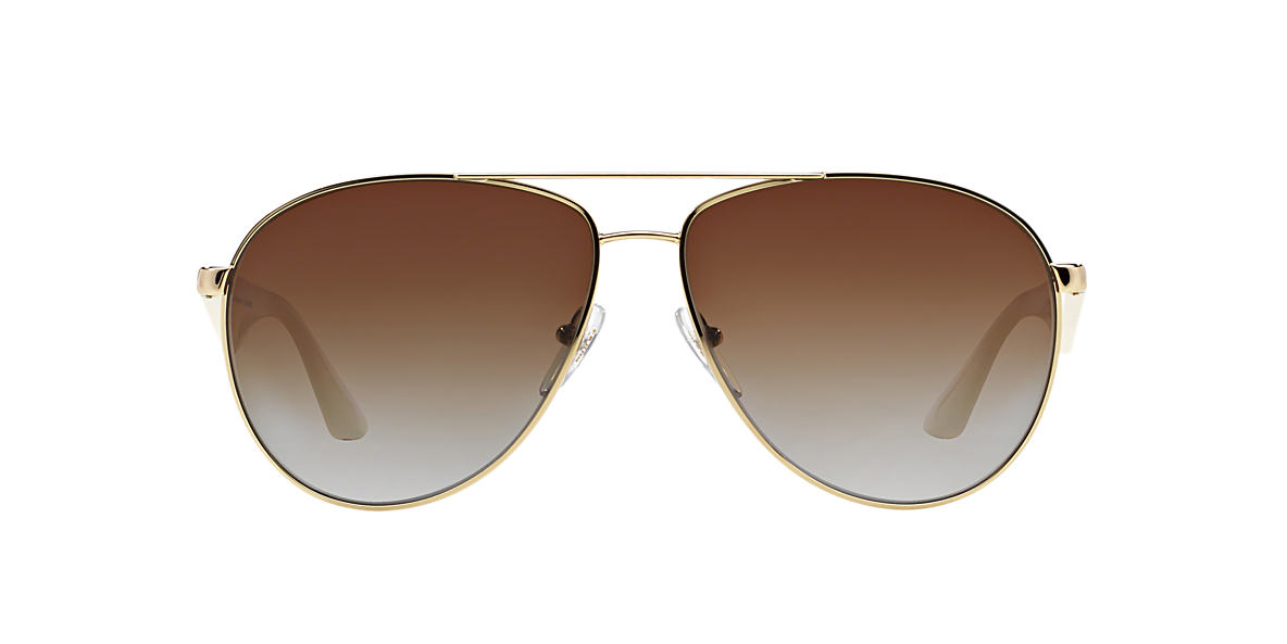 PRADA Gold PR 53QS 60 Grey polarized lenses 60mm