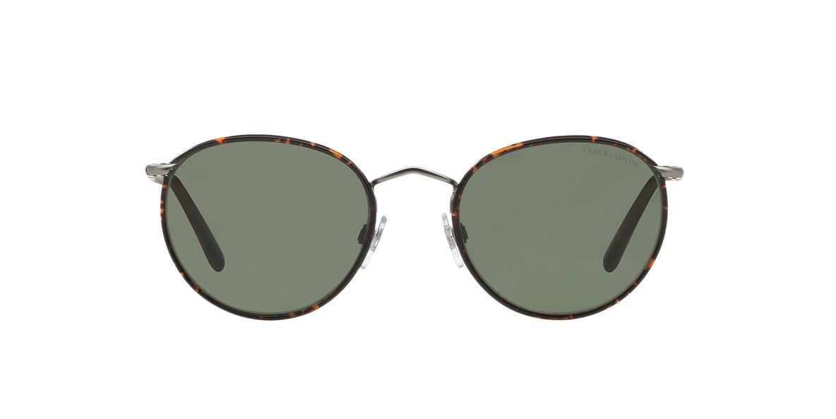GIORGIO ARMANI Silver AR6016J Green polarised lenses 51mm