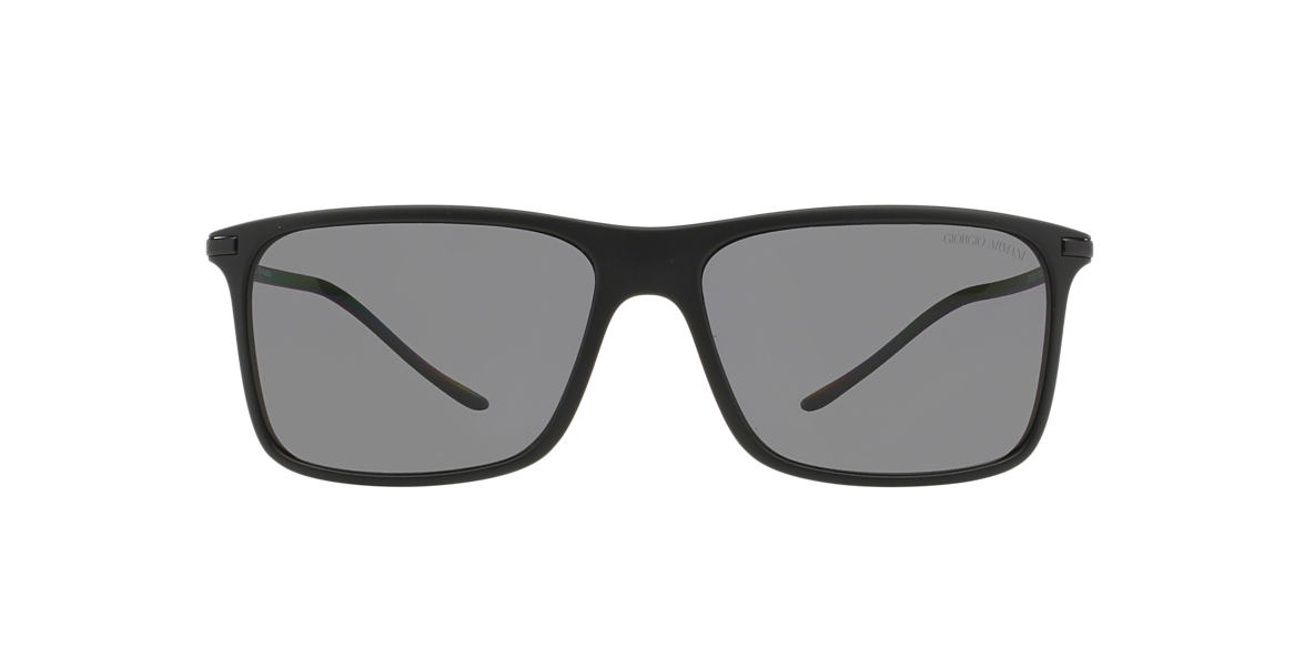 GIORGIO ARMANI Black Matte AR8034 57 Grey polarized lenses 57mm