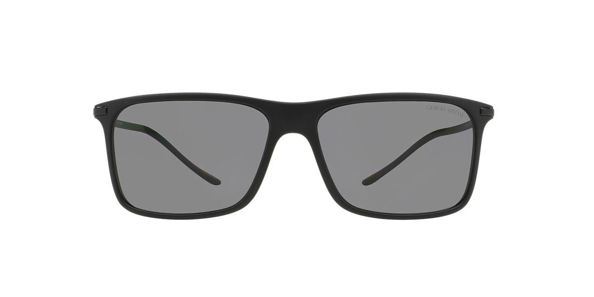 GIORGIO ARMANI Black Matte AR8034 57 Grey polarized lenses 57mm